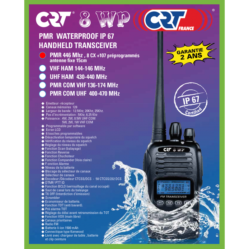 CRT 8WP PMR 446