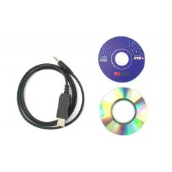 CÂBLE DE PROG. USB CRT 279 + CD DRIVER